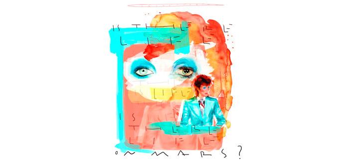 David Bowie, un homenaje en Marte