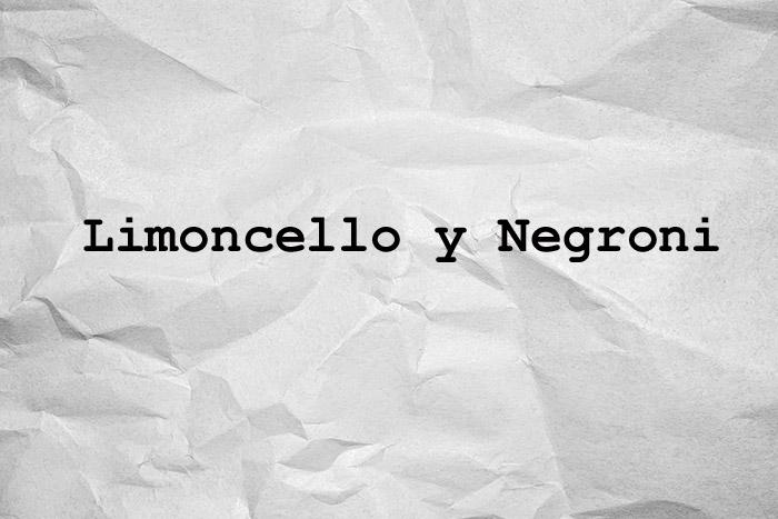 limoncello y negroni