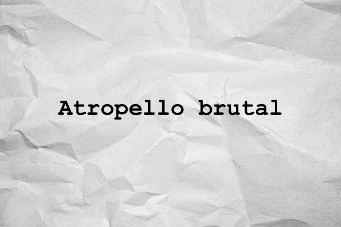 Atropello brutal
