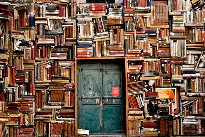 Libros, ¡qué lugares!
