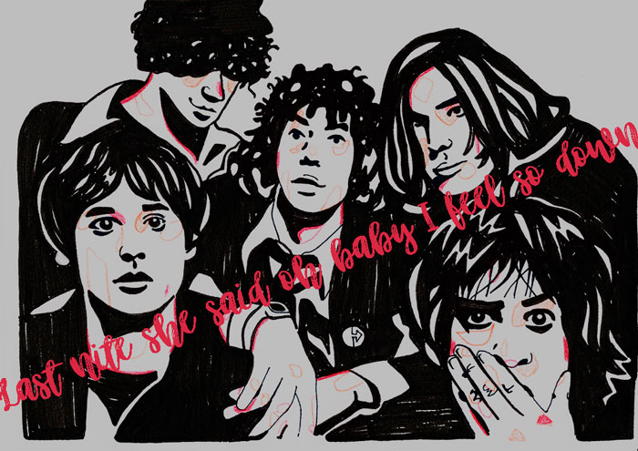 The Strokes Carla Grisaceos